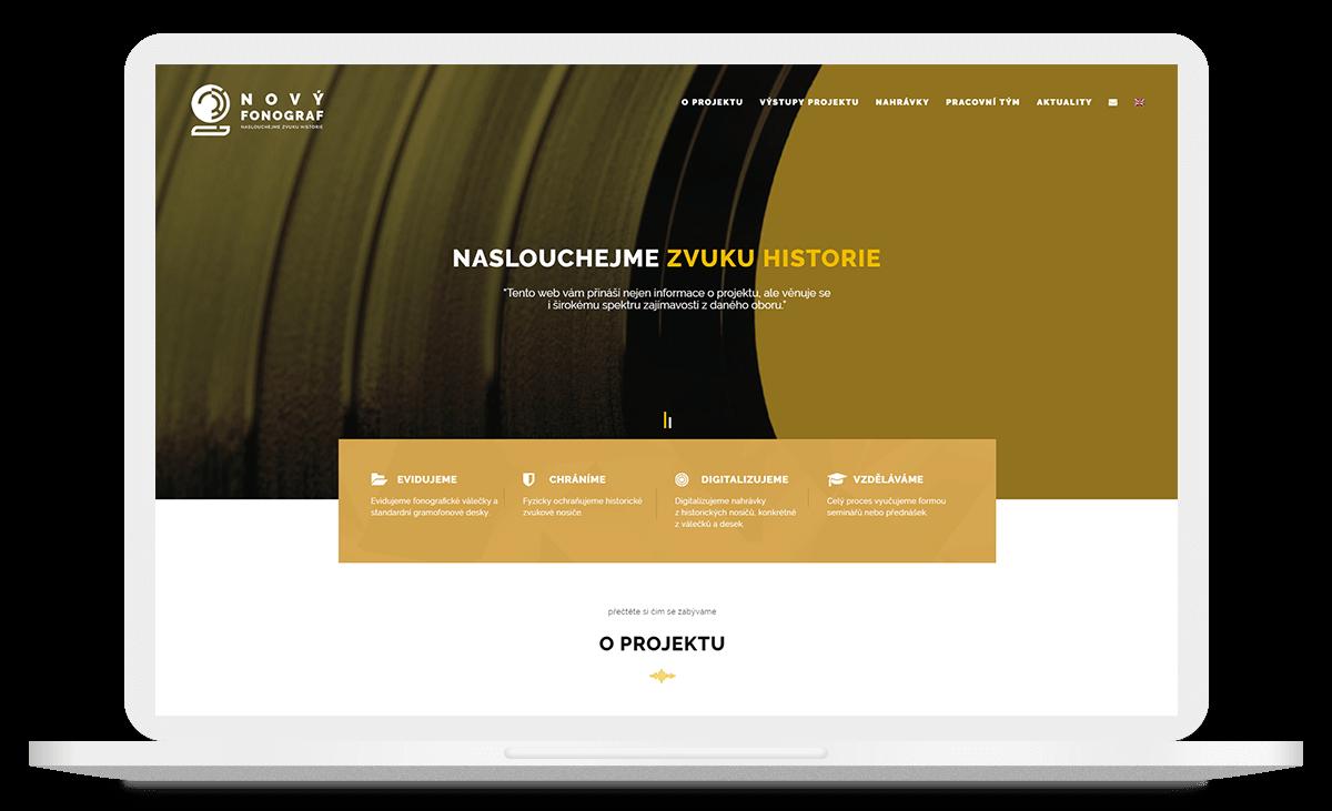 Web Nový fonograf