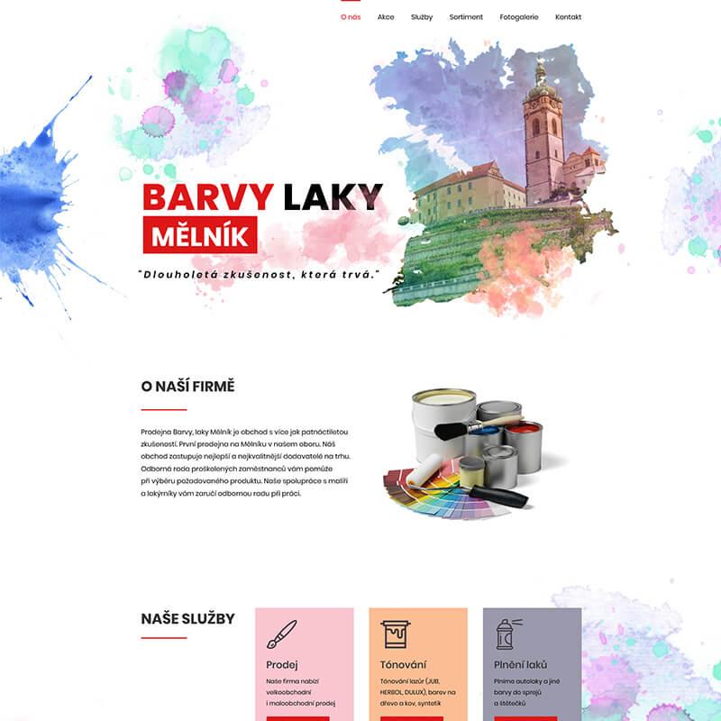 Náhled webu Barvy laky Měník