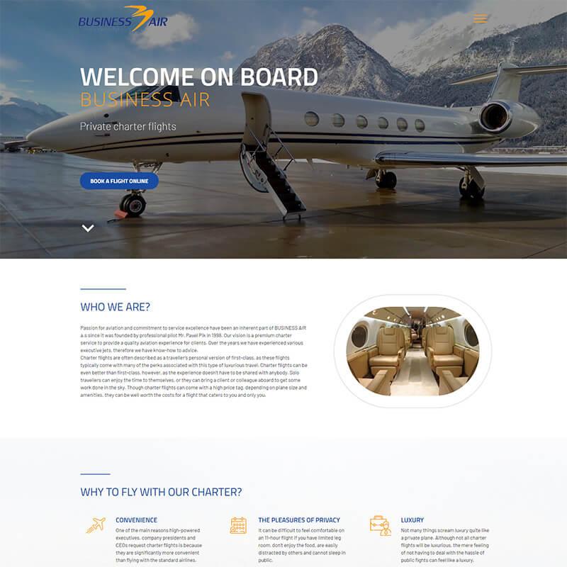 Náhledový obrázek webu Businessair