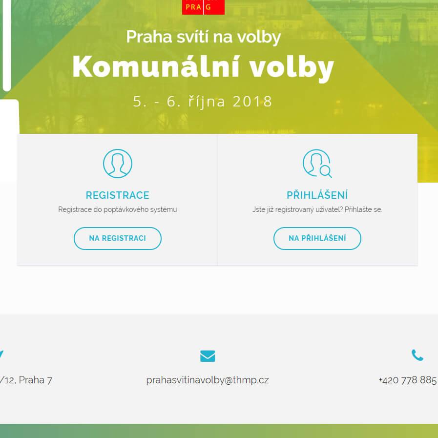 Náhled na podnikový systém CRM Praha svítí na volby