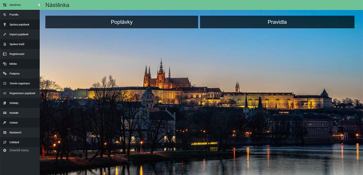 Náhled na prostředí podnikového systému CRM Praha svítí na volby