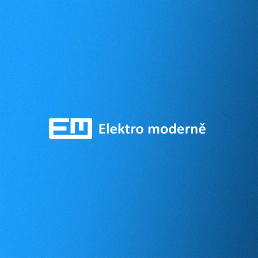 Logo tvorby webové stránky Elektro moderně
