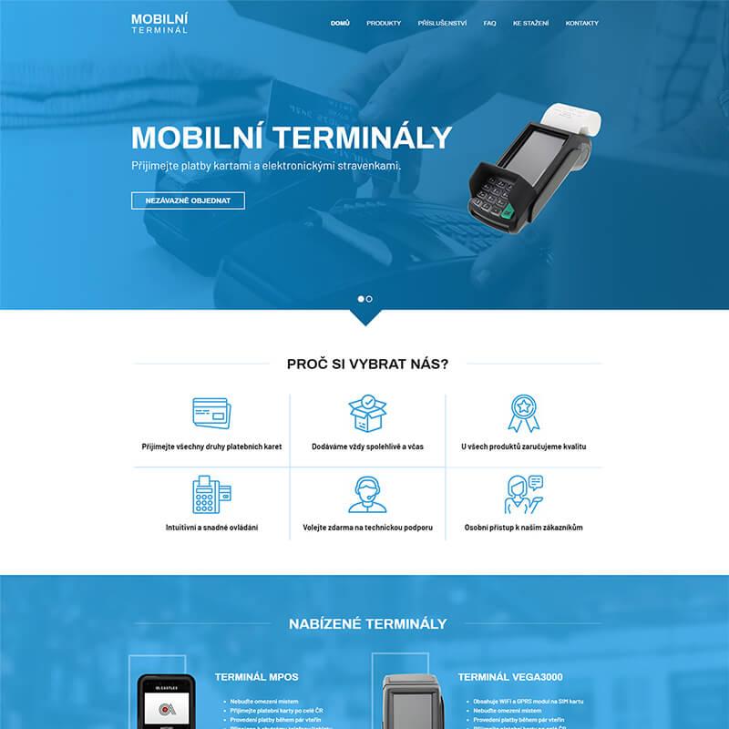 Náhledový obrázek webu Mobilní terminál