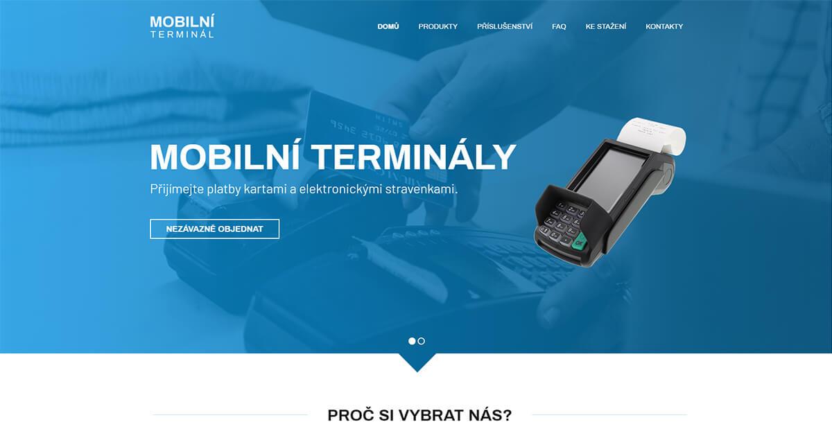 Úvodní stránka webu Mobilní terminál