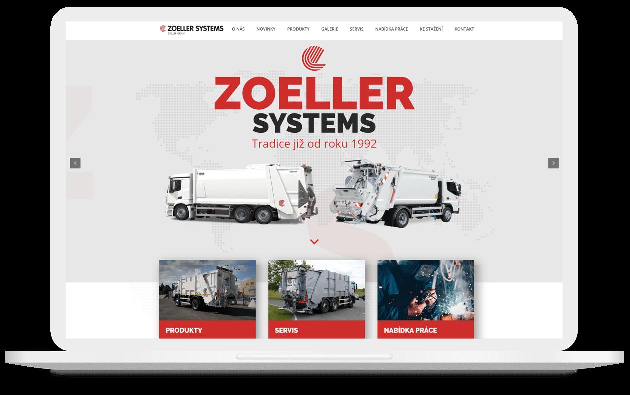 Mockup webu Zoeller