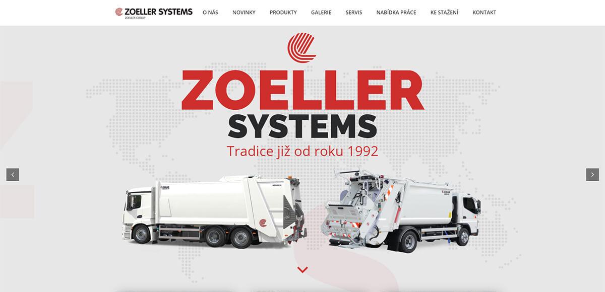 Úvodní stránka webu Zoeller