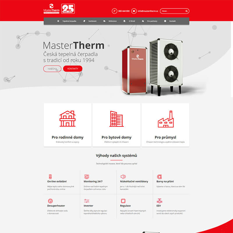 Náhledový obrázek webu Mastertherm