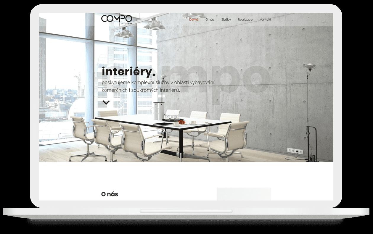 Mock-up webu Compo Interiéry