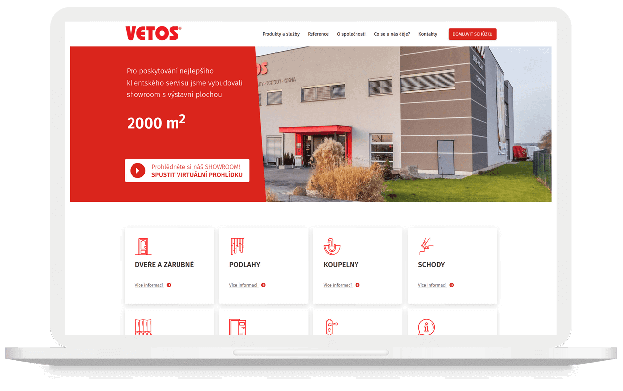 Mock-up webu Vetos