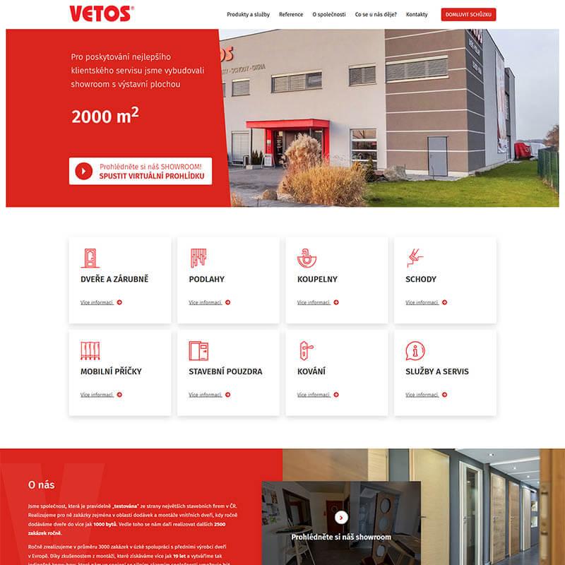 Náhledový obrázek webu Vetos