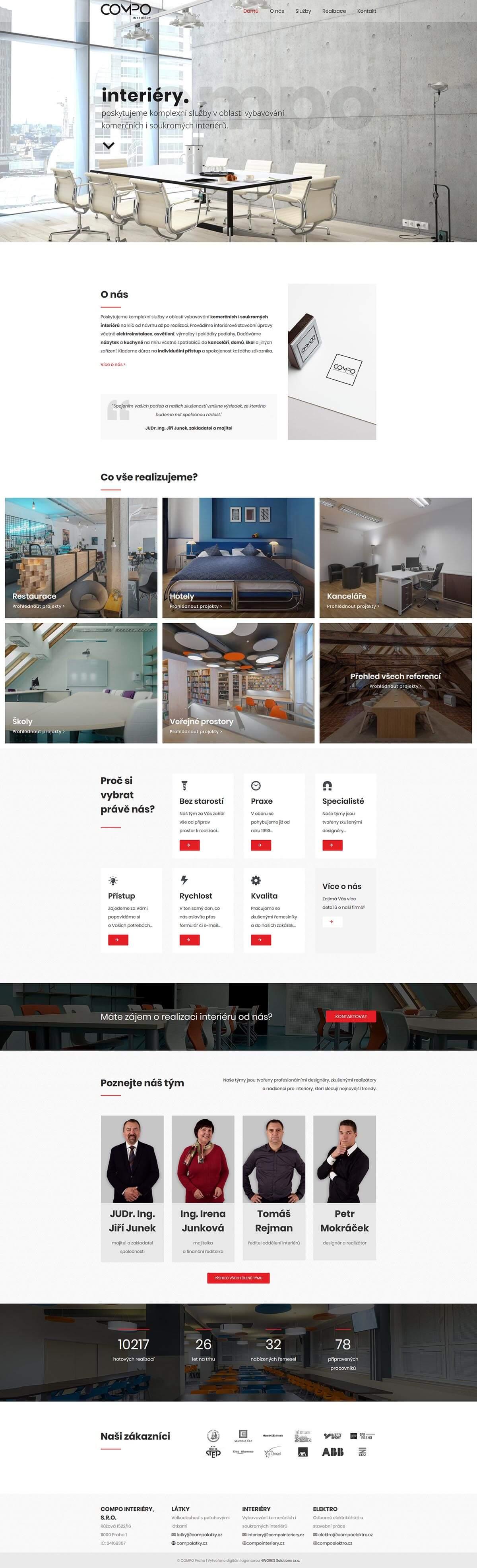 Scréénshot webu Compo Interiéry