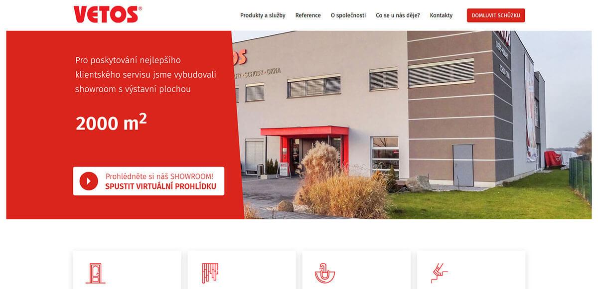 Úvodní stránka webu