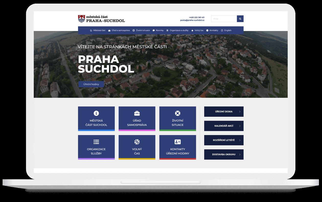 Mockup webu Praha Suchdol