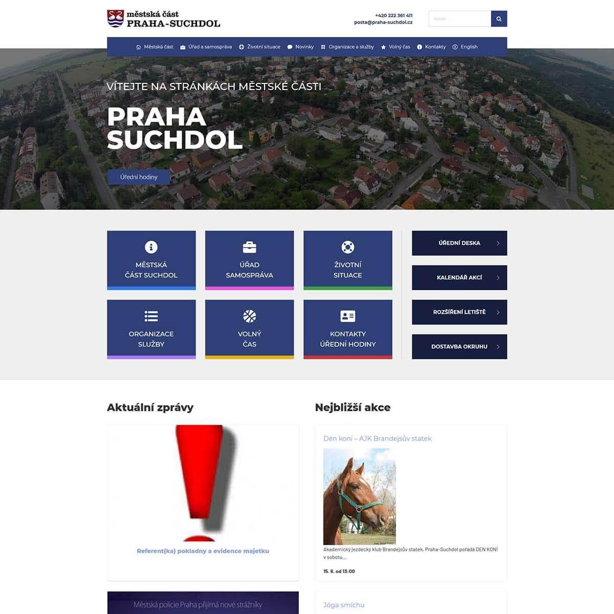 Náhledový obrázek webu Praha Suchdol