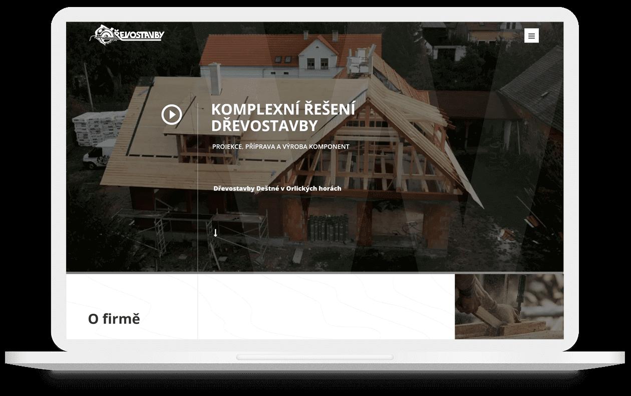 Mockup webu Drevostavbywoth