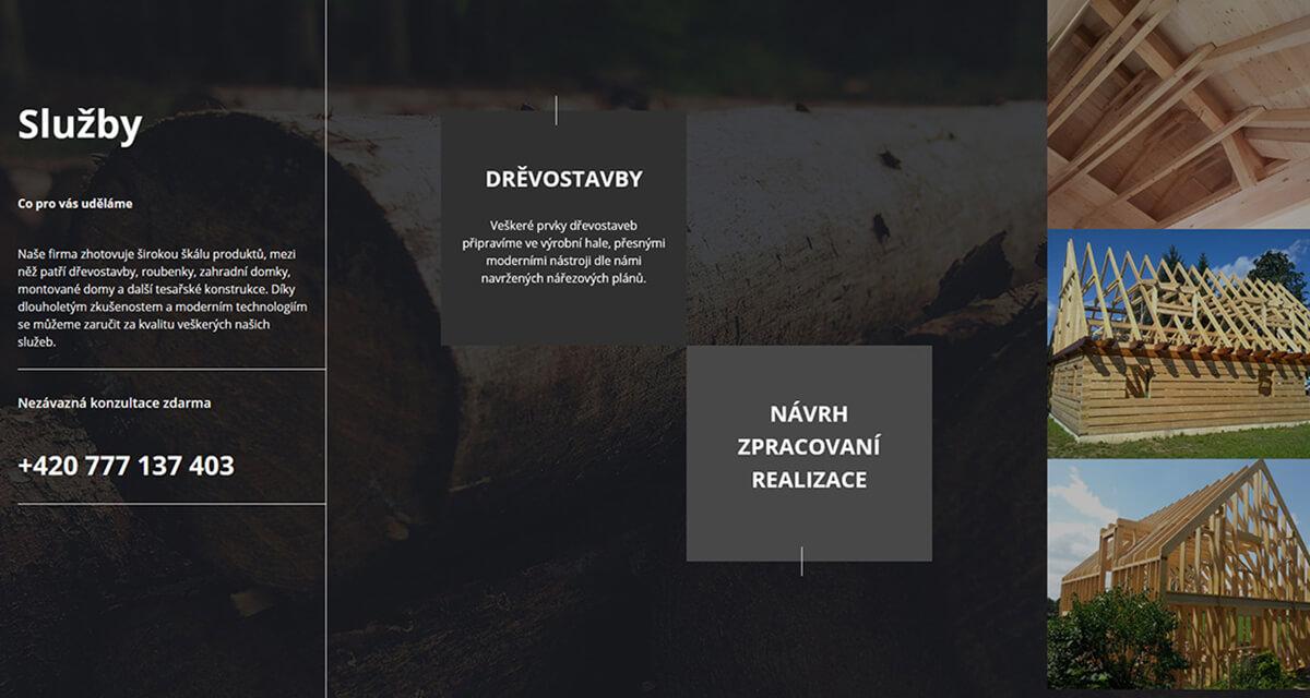 Přehled služeb webu Drevostavbywoth