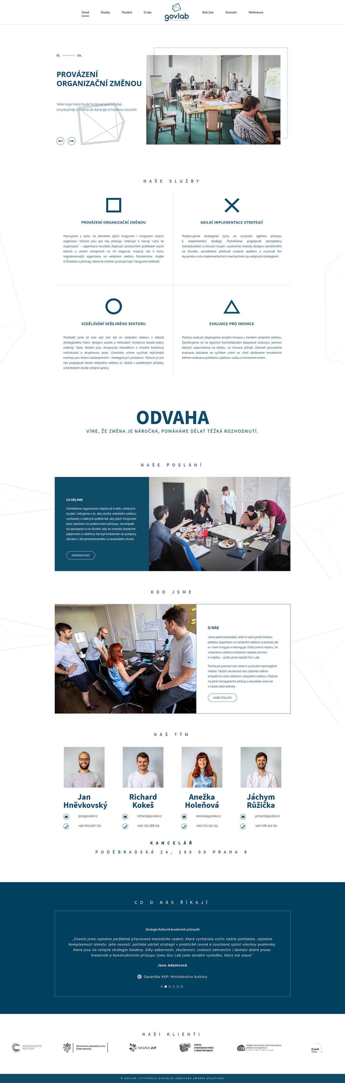 Screenshot webu govlab
