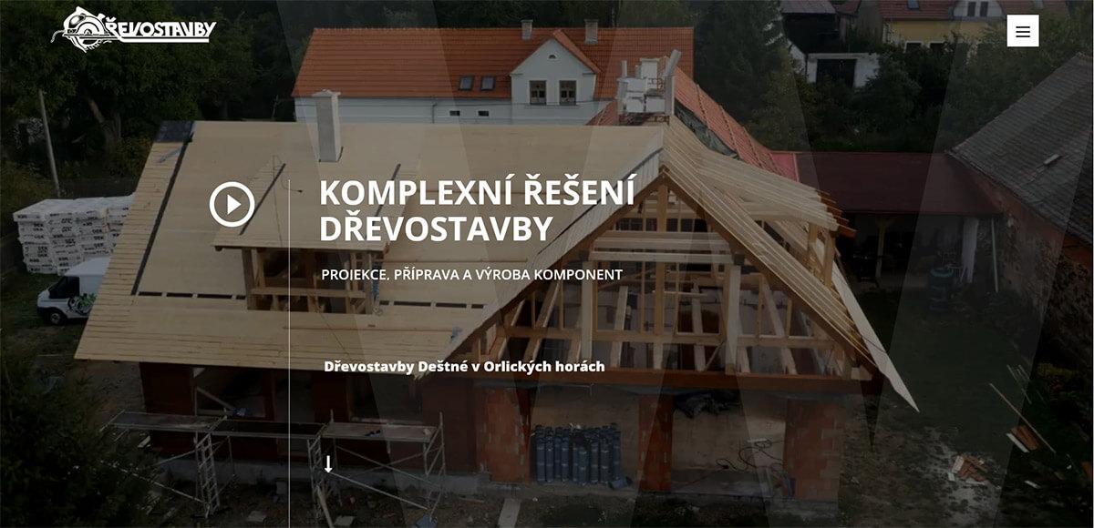 Úvodní stránka webu Drevostavbywoth