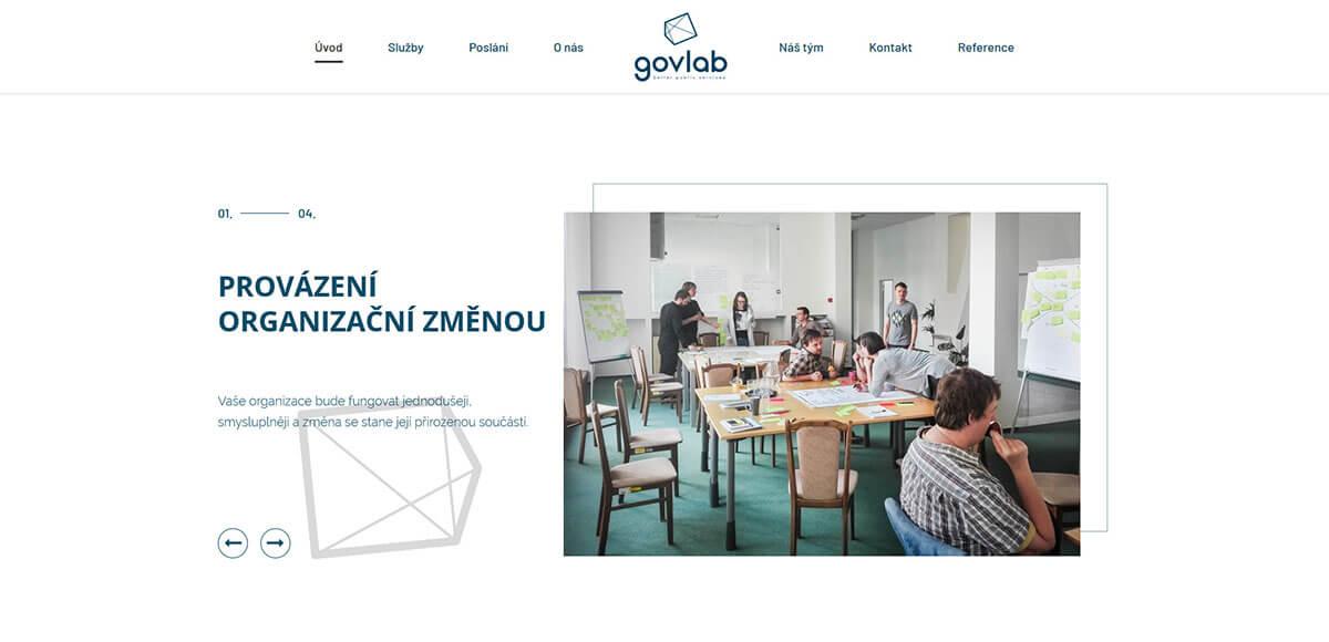 Úvodní stránka webu govlab
