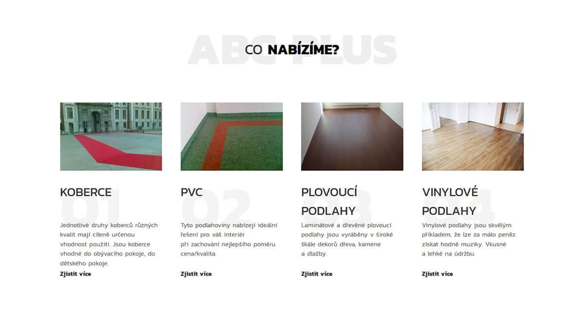 Sluzba webu ABC plus podlahy