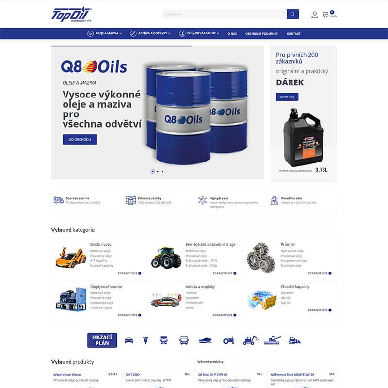 Náhledový obrázek webu Top Oil