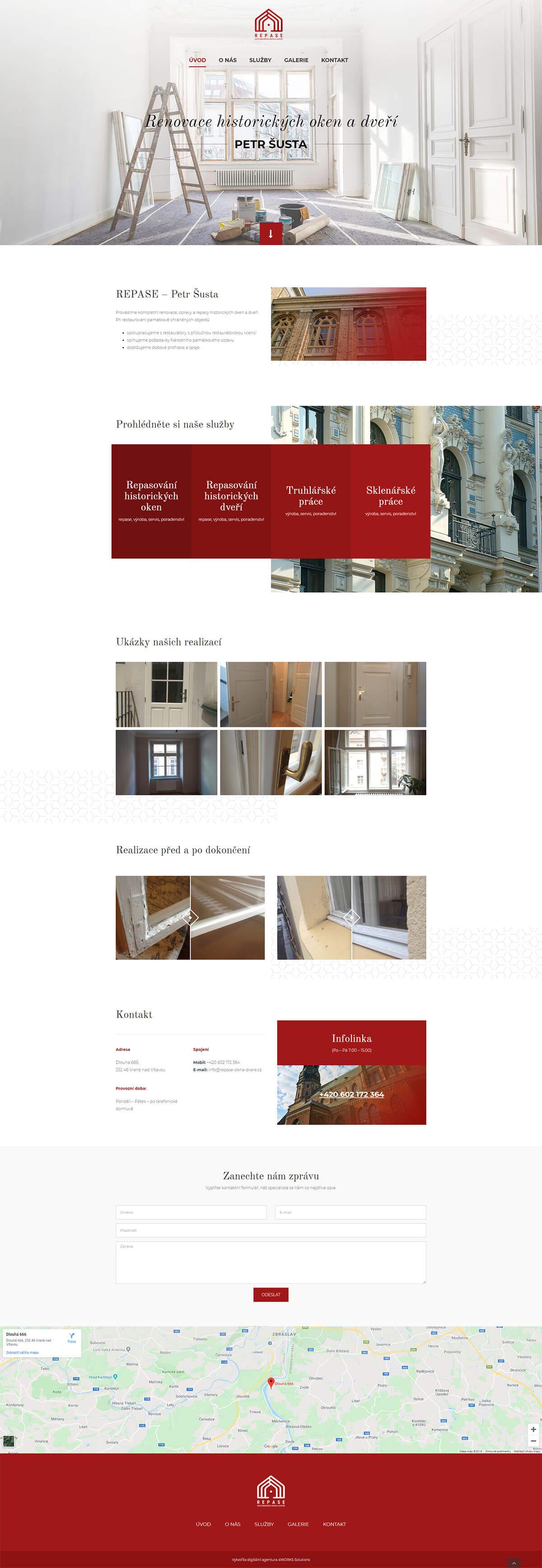 Screen celého webu repase okna dvere