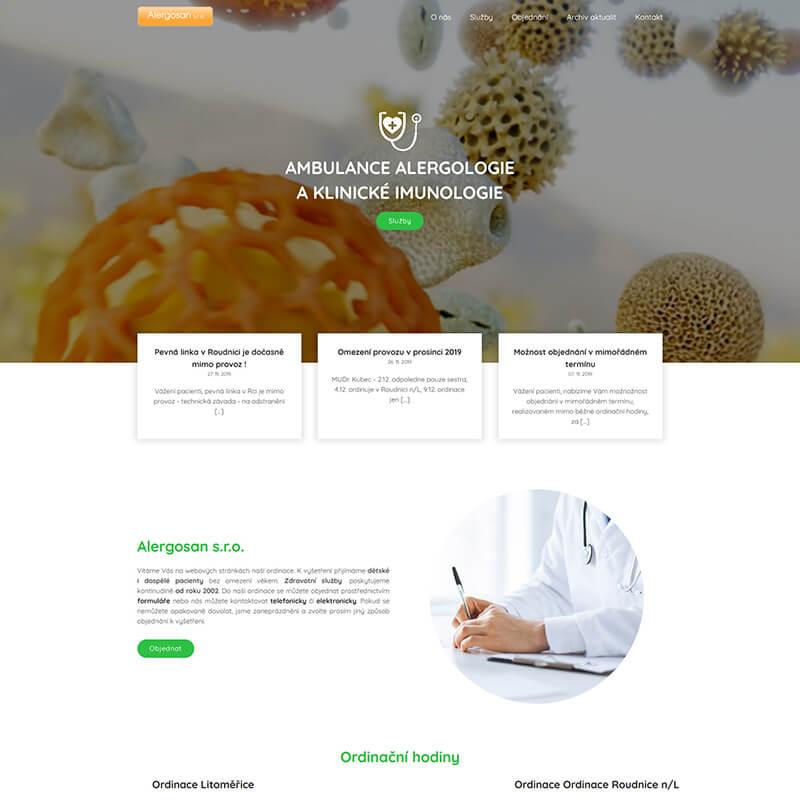 Náhledový obrázek webu Alergologie LTM